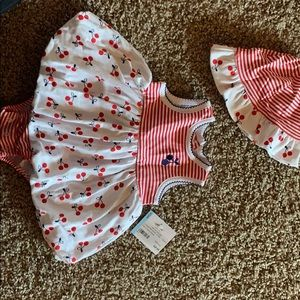 NWT Cherry bubble dress and hat